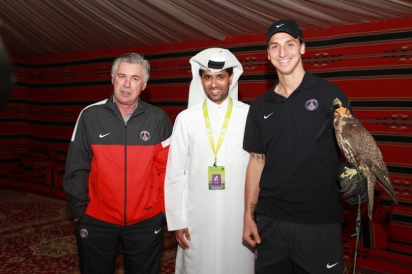 Paris Saint Germain Players Attend Day Two Of The Qatar Open 2013